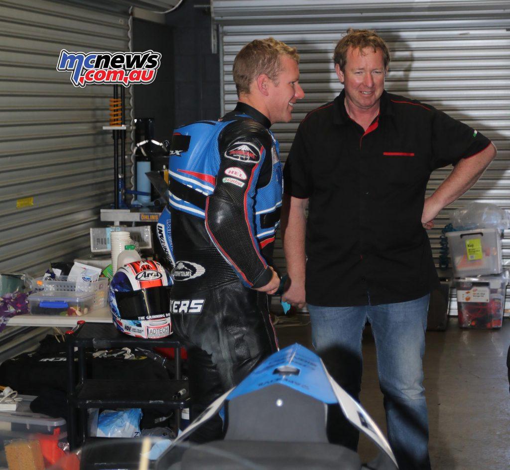 Josh Waters with suspension tuner Steve Mudford
