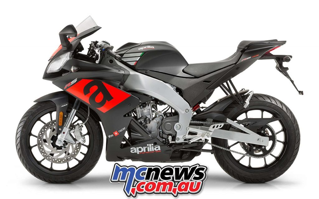 The 2017 Aprilia RS 125 is powered by a four-stroke, four-valve 125cc liquid-cooled single-cylinder with DOHC and is ready for an optional Quick Shifter.