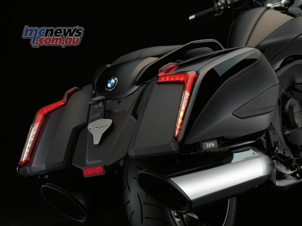2017 BMW K 1600 B, rear cases with LED lights.