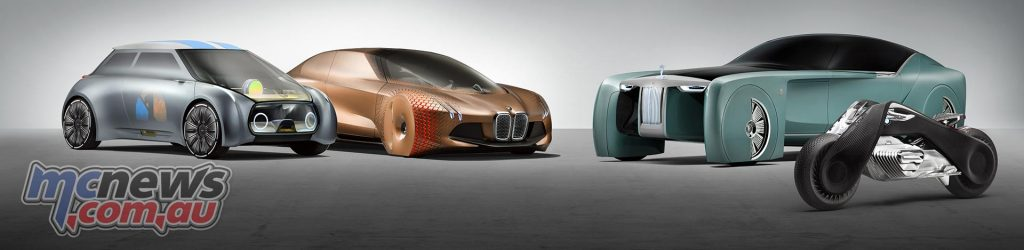 BMW Group: The Next 100 Years, envisioned in four forms, including the Vision Next 100 motorcycle