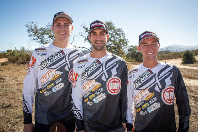 Blose, Milsaps and Baggett in their new Rocky Mountain ATV/MC-KTM-WPS team gear