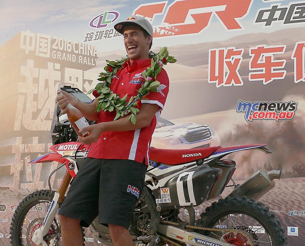 Overall victory for Joan Barreda and Team HRC in China