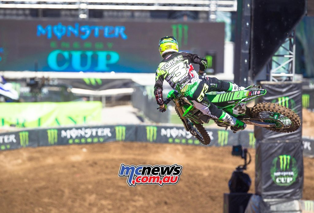 Eli Tomac grabbed his first-ever Monster Energy Cup victory at Sam Boyd Stadium - Image by Hoppenworld