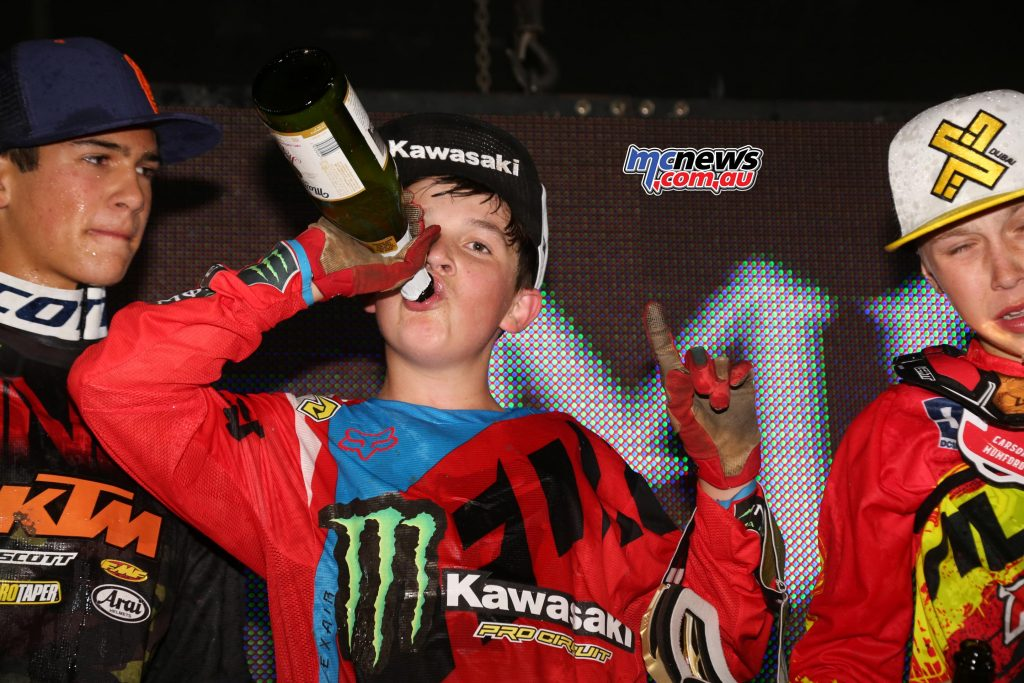 Stilez Robertson raced into the Supermini Championship at the Monster Energy Cup - Image by Hoppenworld