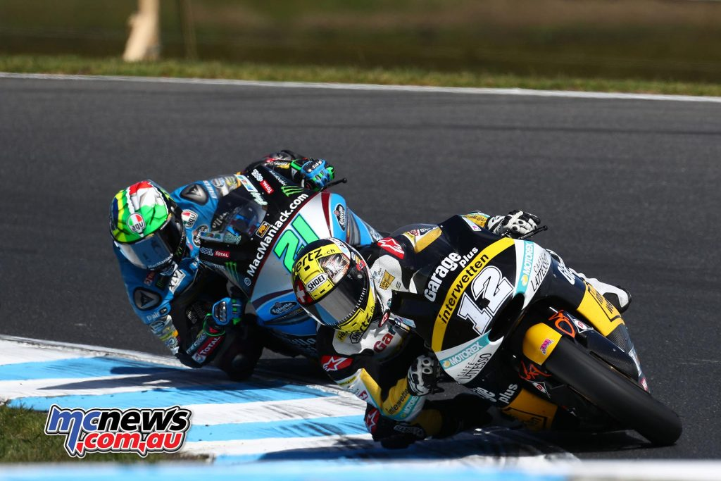 Tom Lüthi took his first back-to-back win at Phillip Island.