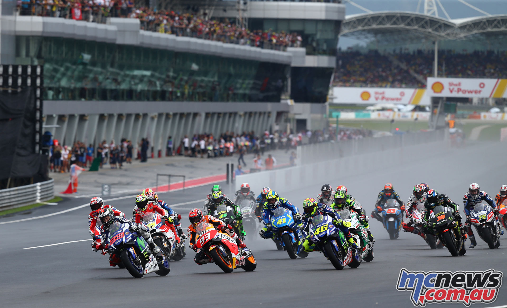 MotoGP race start - 2016 Sepang