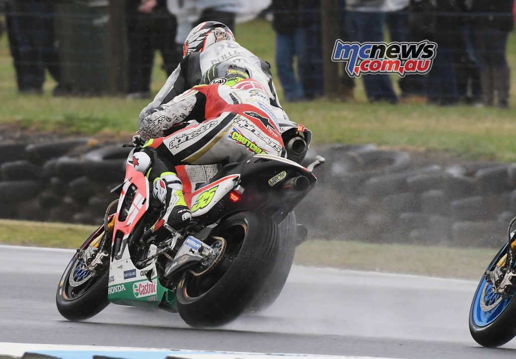 Friday saw riders experience the worst of Phillip Island weather