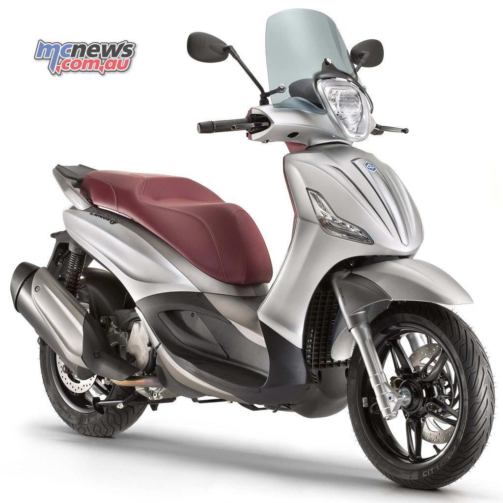 The top-spec Piaggio Beverly Sport Touring with larger capacity engine.