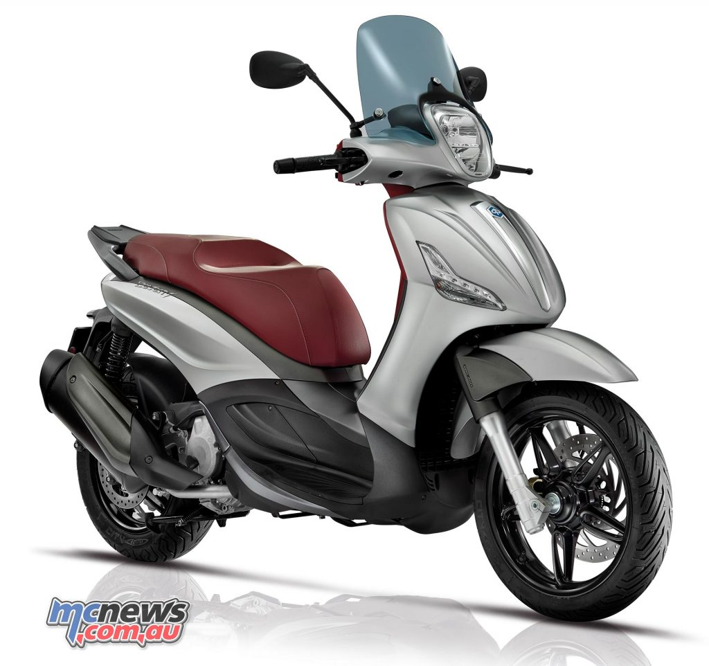 The Piaggio Beverly 350 Sport Touring is available in four colour options.