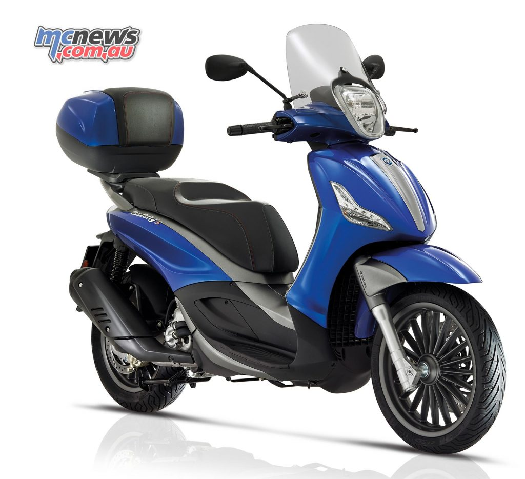 2017 Piaggio Beverly Sport Touring 350, the flagship model.