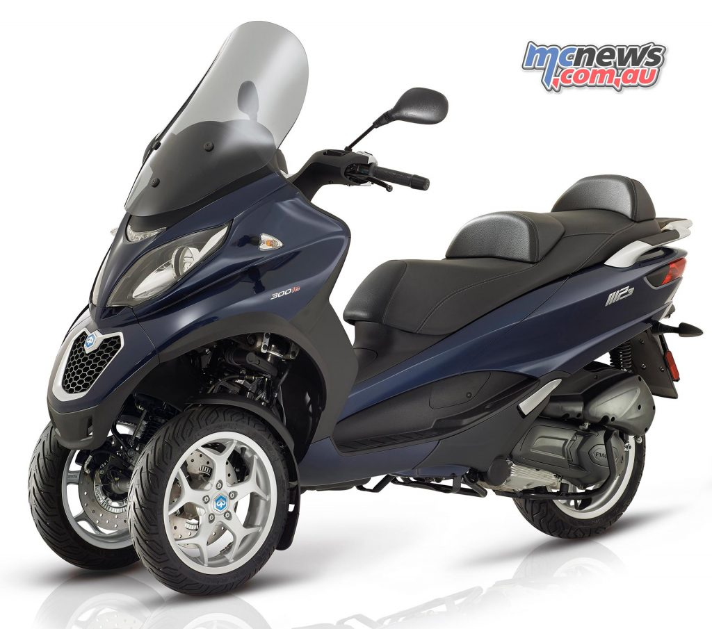 The 2017 Piaggio MP3 models also feature Continental three-channel ABS. 300 Business