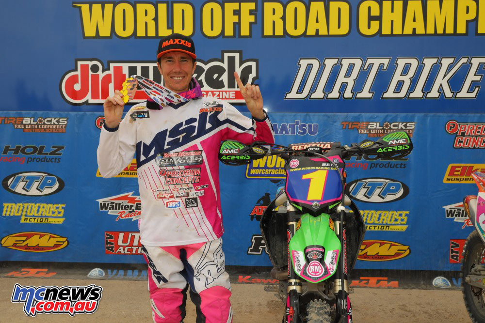 Robbie Bell celebrates third WORCS title in 2016 at Primm Nevada