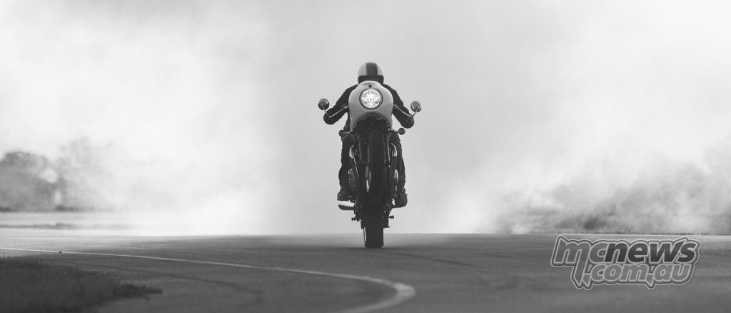 When Triumph ask me to make a lot of smoke then mono out of the smoke, who was I to argue... How I suffer for my art.... TIC. Just illustrating that traction control is switchable..