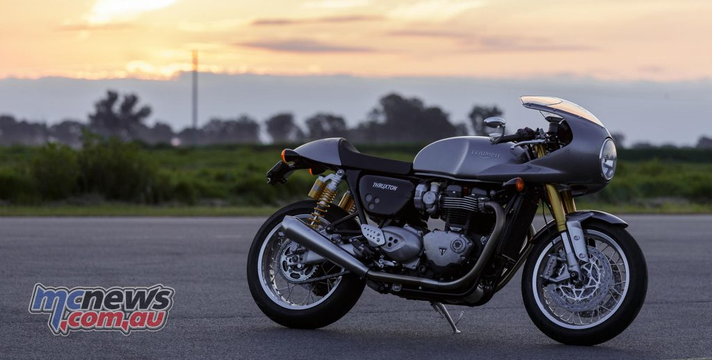 Triumph Thruxton R with optional racer fairing