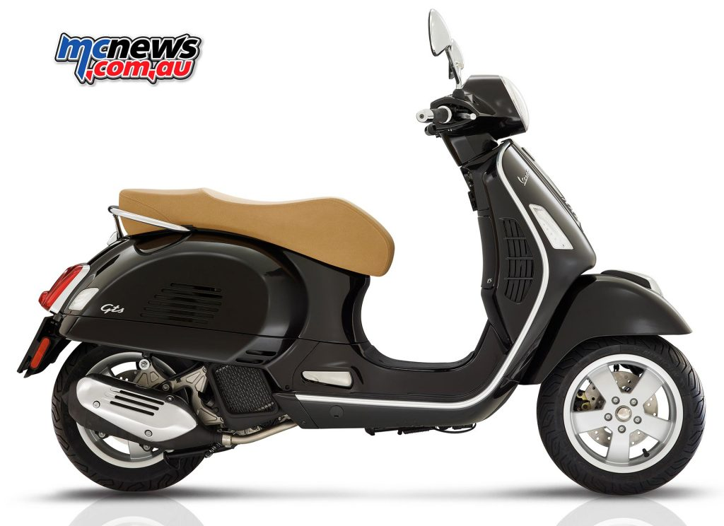 2017 Vespa GTS 125. The heavily revised engine offers strong performance and reliability, as well as the RISS system, which turns the scooter off during periods of inactivity, and restarts the bike on throttle opening.