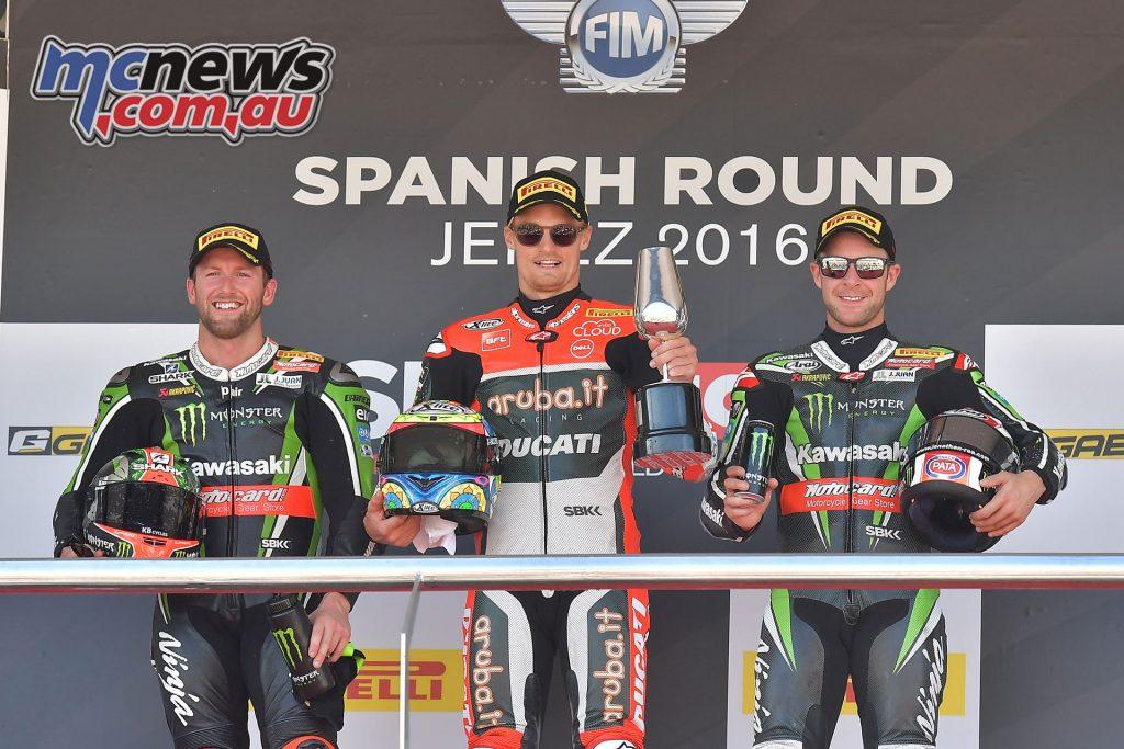 2016 WorldSBK - Jerez Race 1 Podium