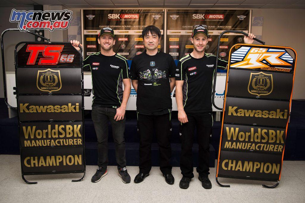 2016 WorldSBK - Kawaski win Manufacturer Cup, Tom Sykes, Yoshimoto Matsuda, Jonathan Rea