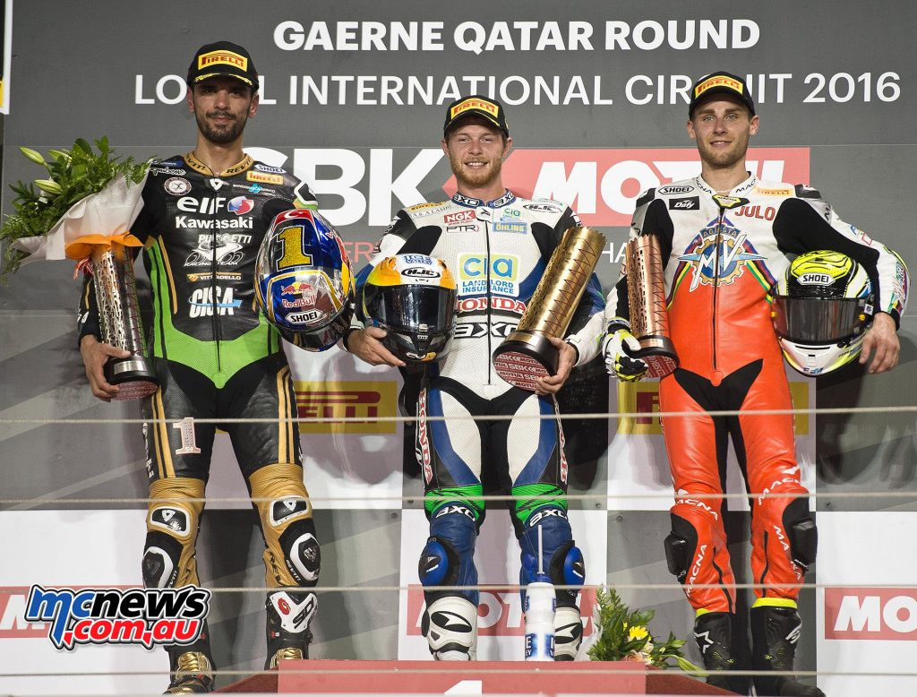 WorldSBK 2016 Qatar - World SSP Podium
