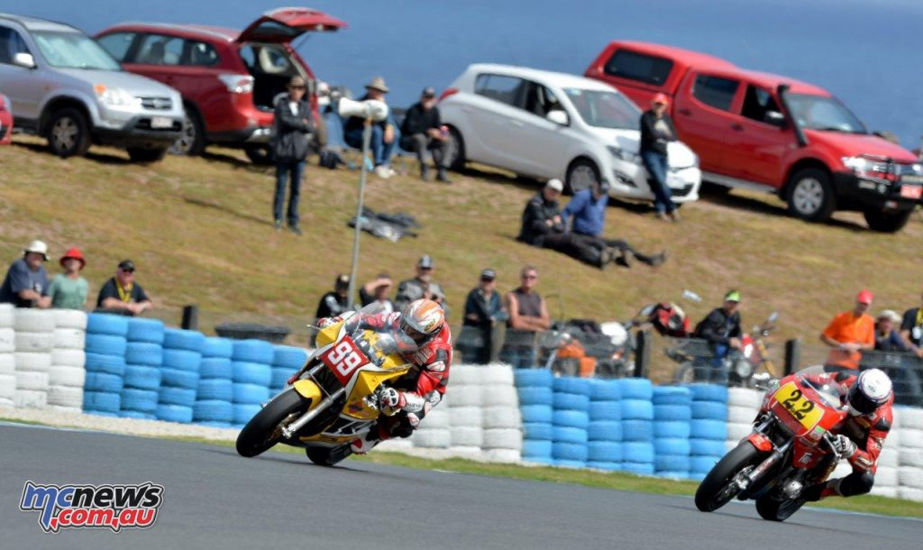 2016 Island Classic - Jeremy McWilliams leads Jed Metcher - Image by Russel Colvin