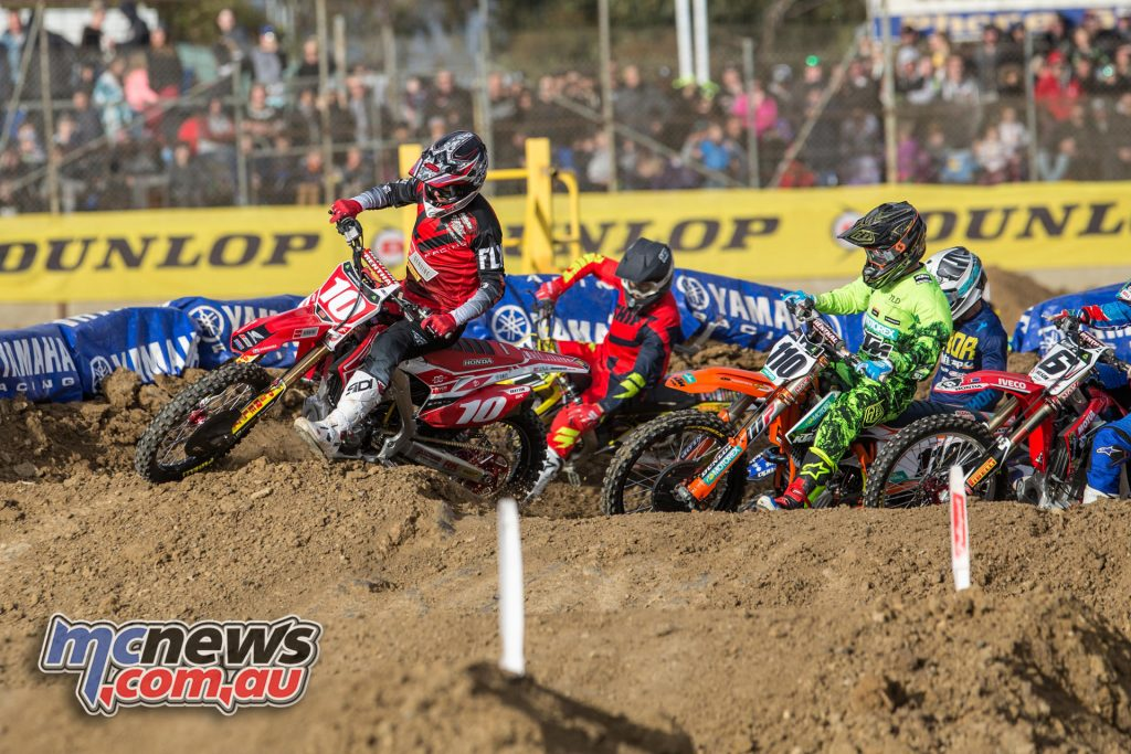 Justin Brayton takes the holeshot