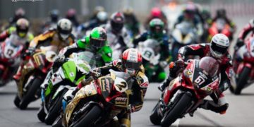 Michael Rutter has won more Macau GPs than any other rider, here he leads in 2016