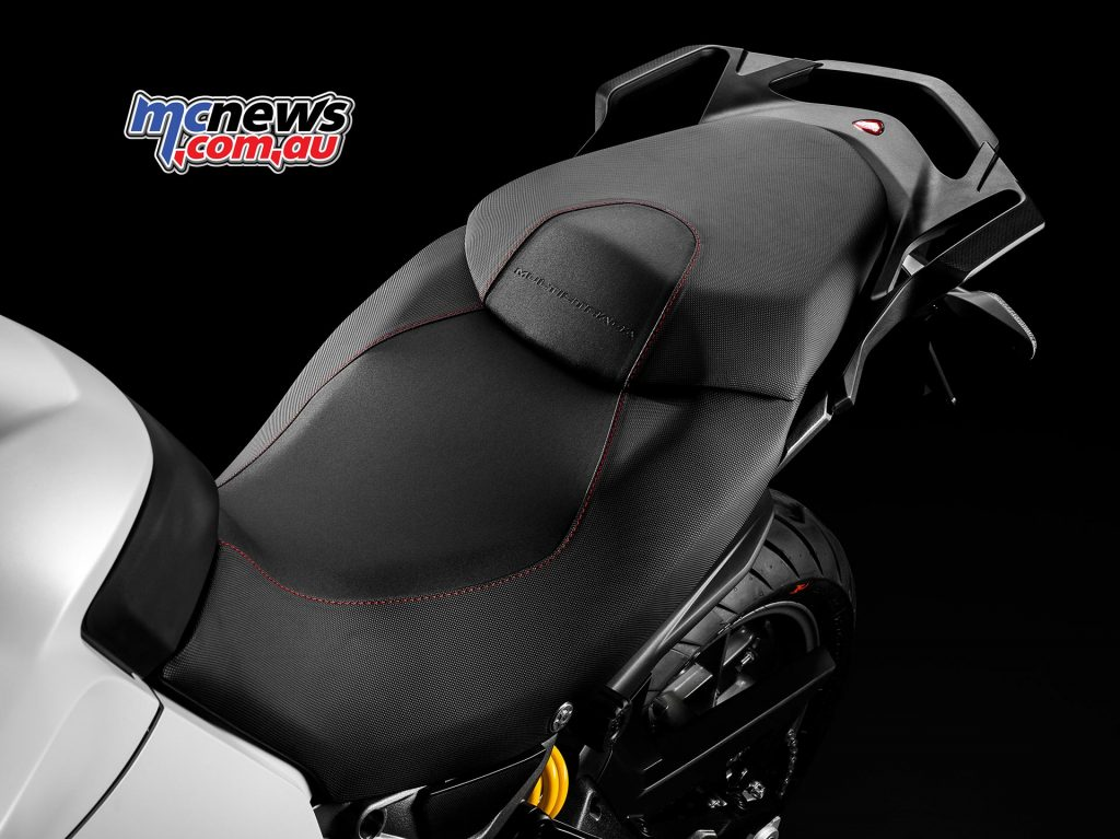 2017 Ducati Multistrada 950 - lower and higher height seats are available as optional accessories