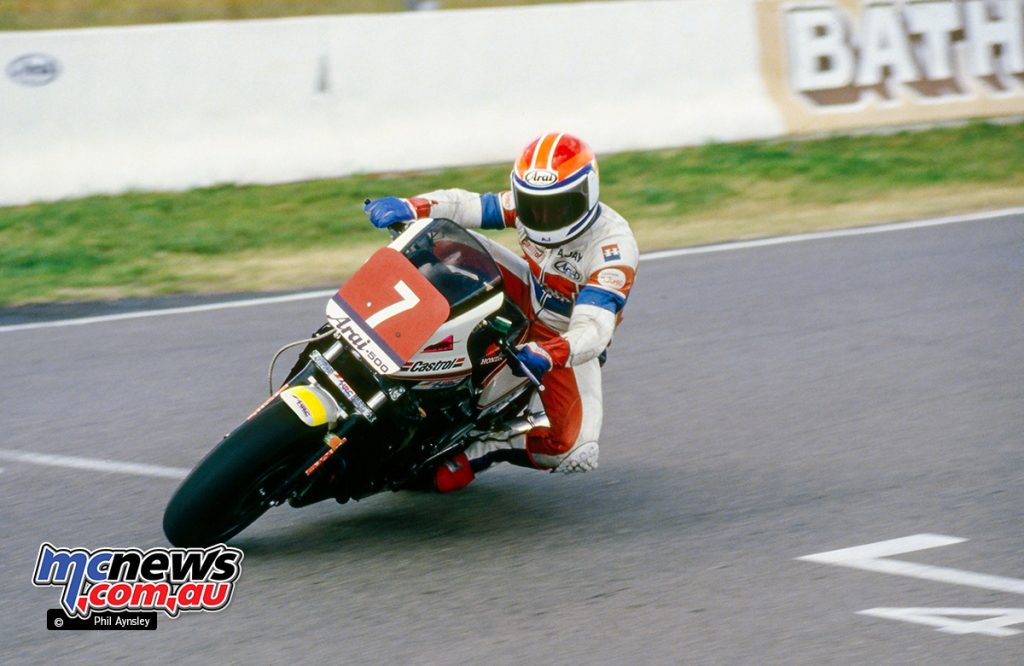 Bathurst 1983 - AJ on the Honda VF1000.