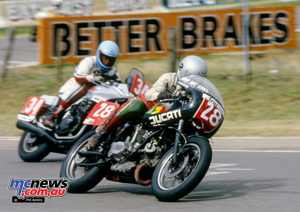 Bathurst 1984 - Duncan Read/Ducati 880 and Neil O'Sullivan/Suzuki 1000.
