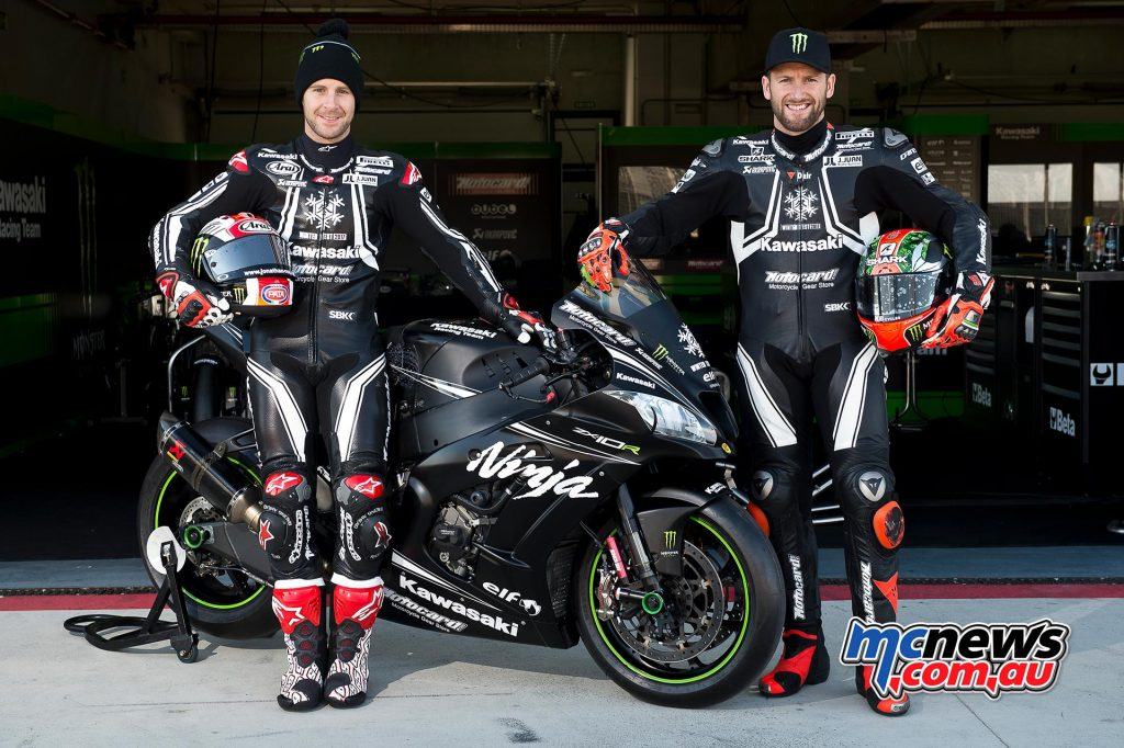 Jonathan Rea and Tom Sykes with the 2017 Kawasaki ZX-10RR