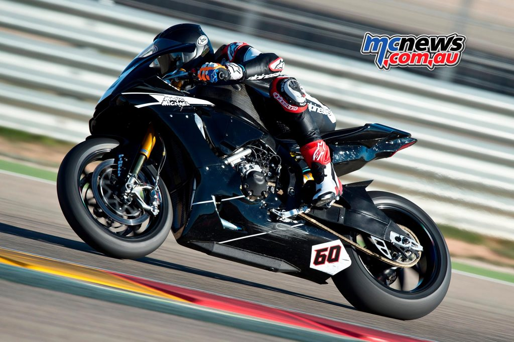 Michael Van der Mark rides WorldSBK YZF-R1