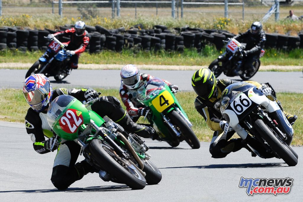 Australian Historic Road Racing Championships 2016 - Image by Colin Rosewarne - Corey Forde, Tom Bramich, Aaiden Coote