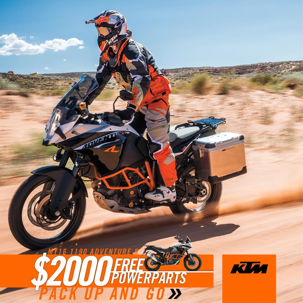 $2000 worth of extras with KTM 1190 Adventure R