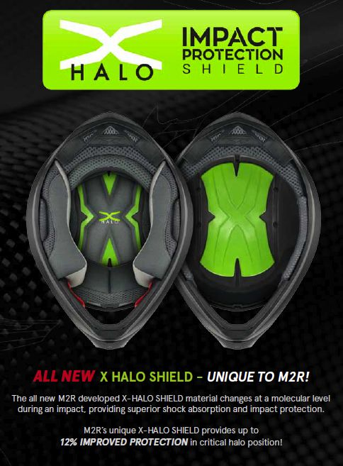 2017 M2R X4.5 off-road helmet - X Halo impact protection sheild