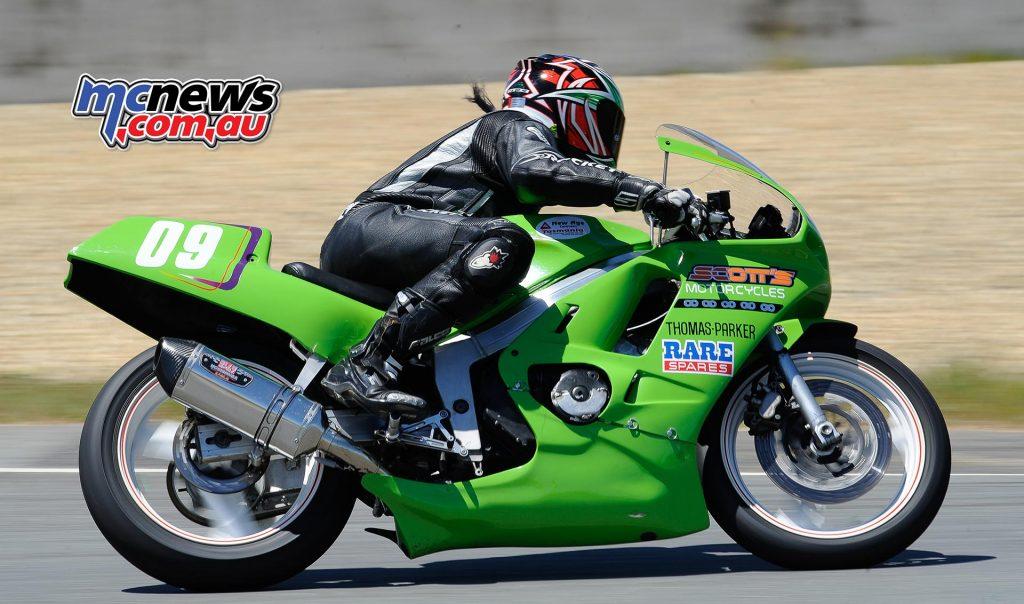 Australian Historic Road Racing Championships 2016 - Image by Colin Rosewarne - Courtney McMahon Honda CBR250R
