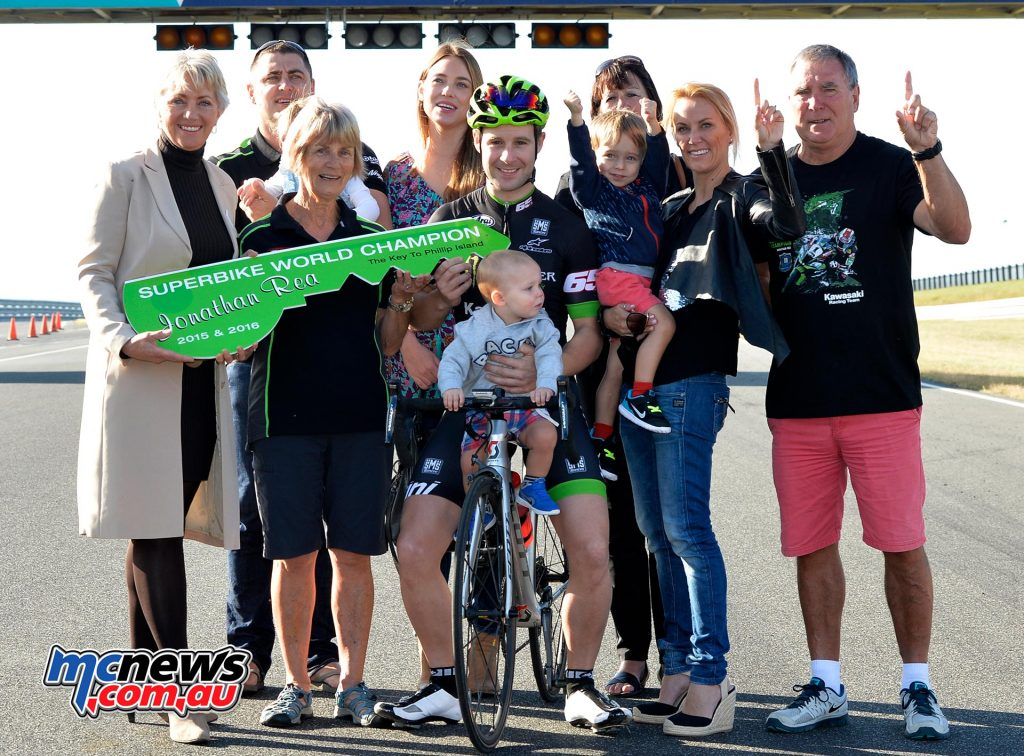 Jonathan Rea family - Image by Russell Colvin