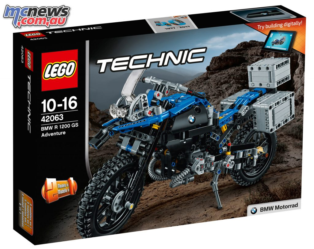 LEGO Technic BMW R 1200 GS Adventure - the kit will contain a specially designed Lego Technic piece to celebrate 40 years of Technic