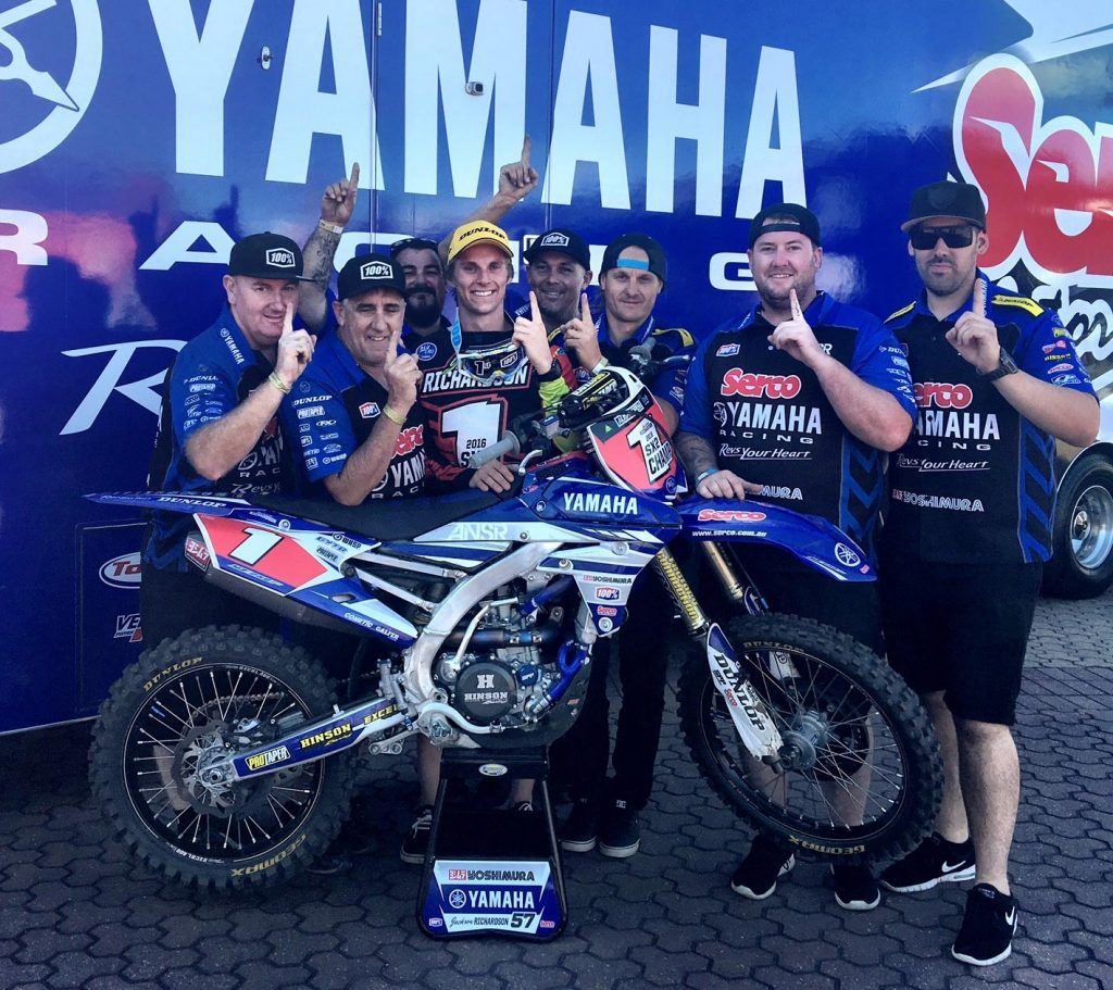 Serco Yamaha took the SX2 supercross crown in 2016