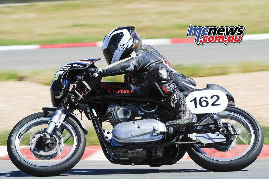 Australian Historic Road Racing Championships 2016 - Image by Colin Rosewarne - Stacey Heaney - Royal Enfield 612