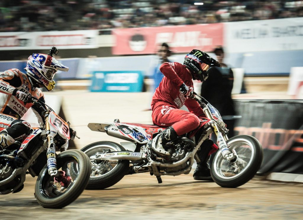 Superprestigio - Marc Marquez versus Brad Baker for top honours - Image AMA Flat Track