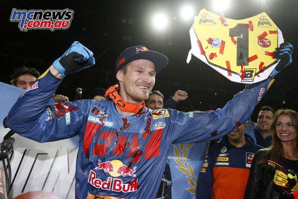 Taddy Blazusiak wins his final SuperEnduro event before retirement in Poland.