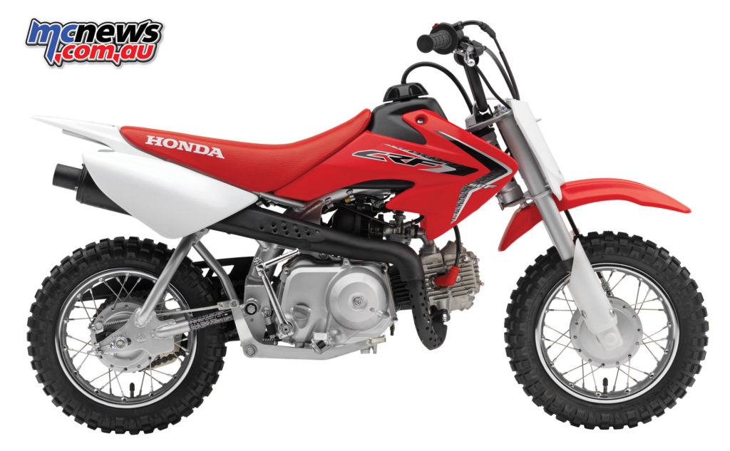 Honda's leading off-road seller, the CRF50F