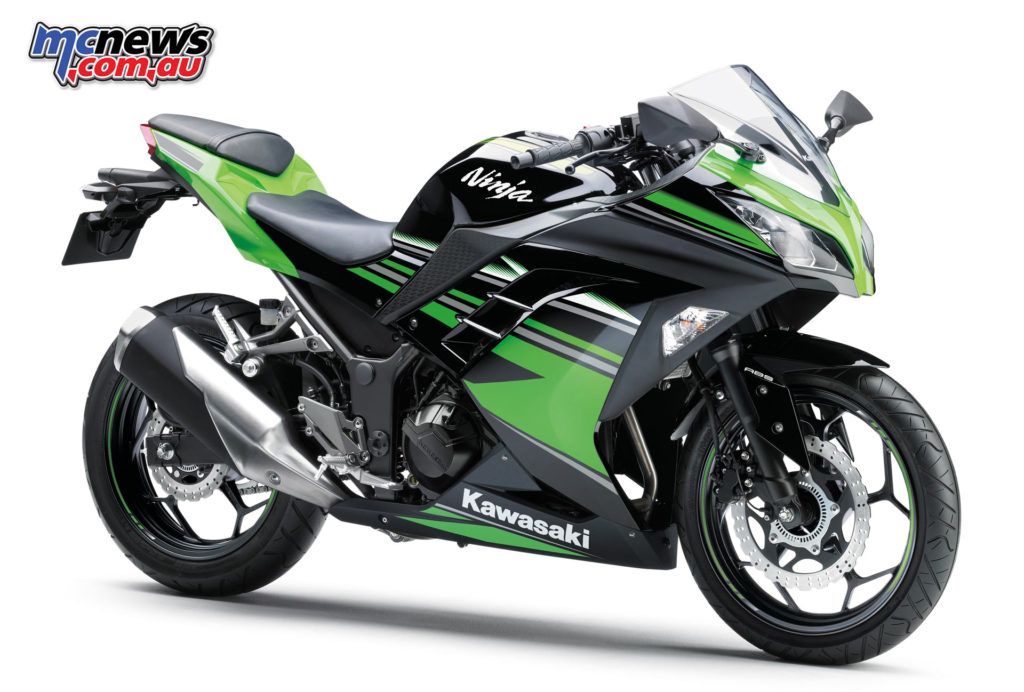 Kawasaki's Ninja 300 remained a strong performer with the Sport Touring category figures led by LAMS machines