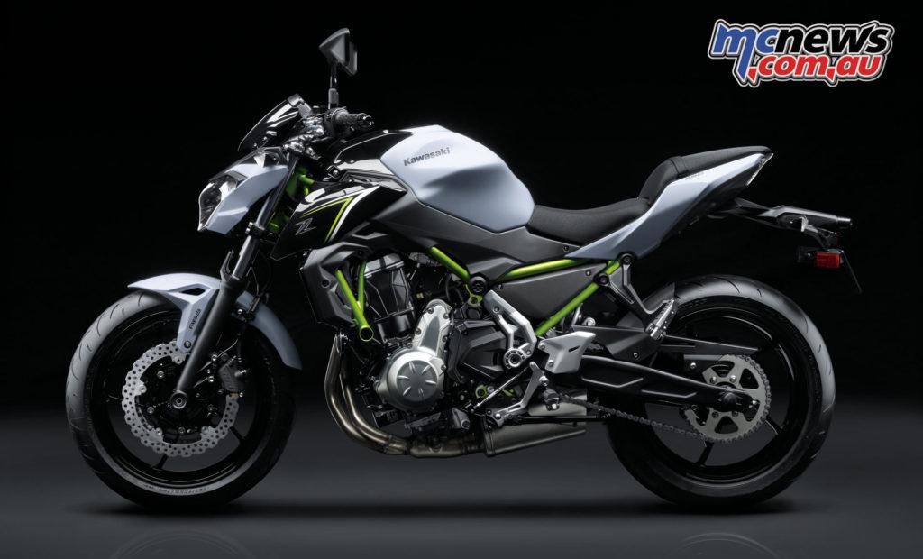 2017 Kawasaki Z650 - Pearl Flat Stardust White / Metallic Spark Black