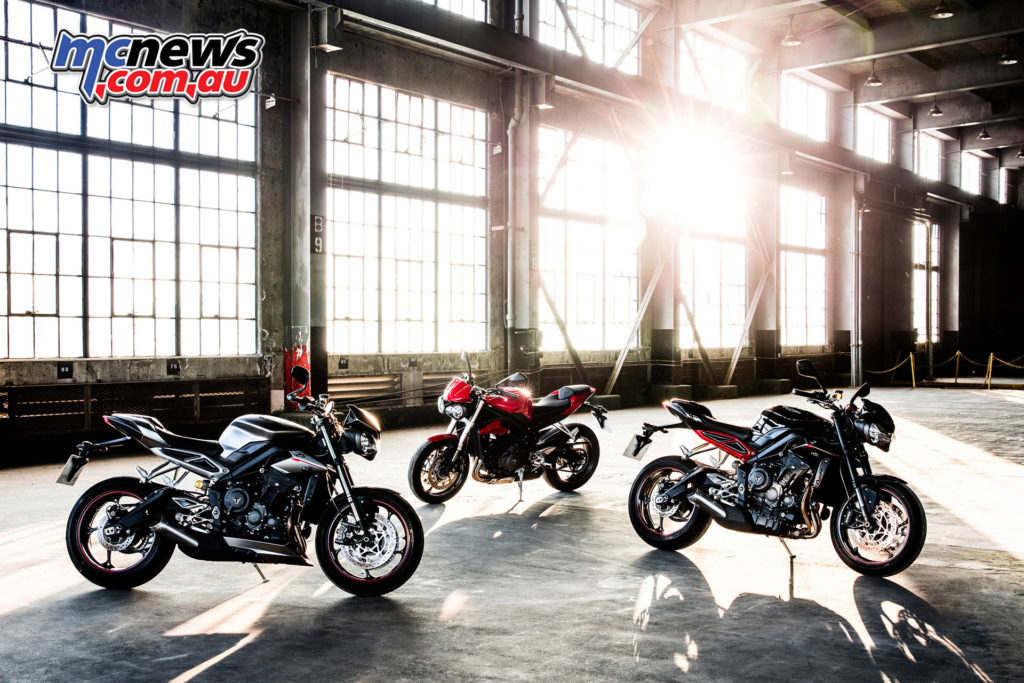 The latest update to be unveiled is Triumph's Street Triple 765 line
