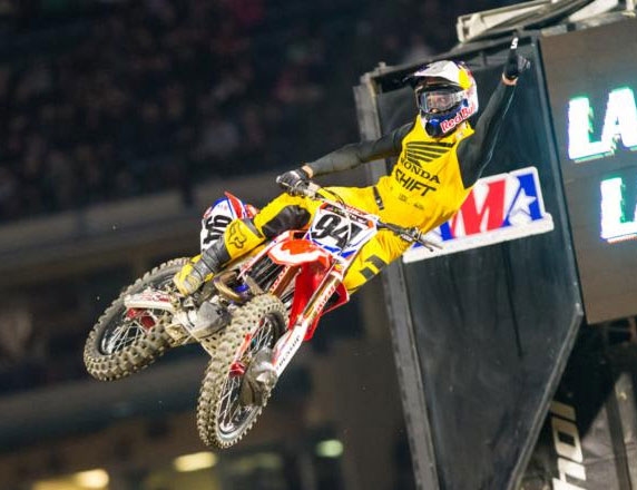 Roczen took his third Anaheim opener win in his championship debut with Team Honda HRC. Photo: Feld Entertainment, Inc.