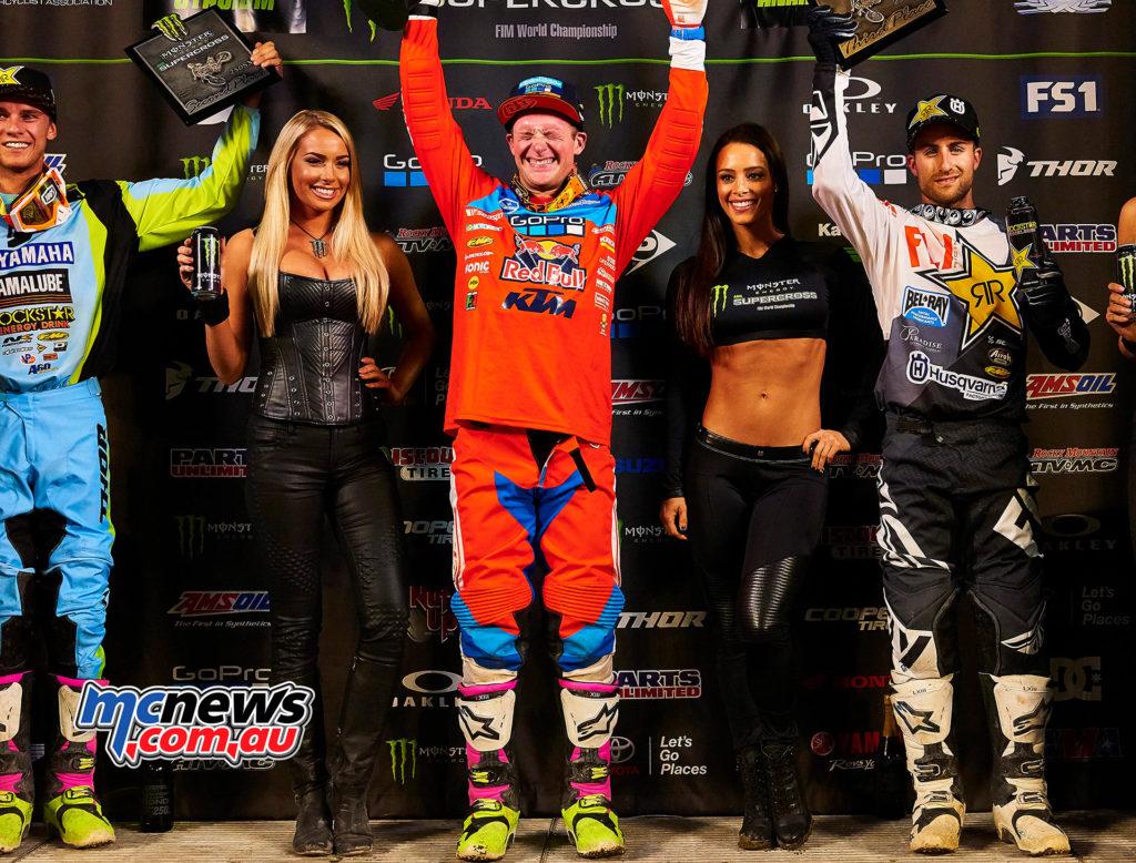 2017 AMA Supercross - Round 1 Anaheim - Hoppenworld Image - Shane McElrath - 250SX Winner