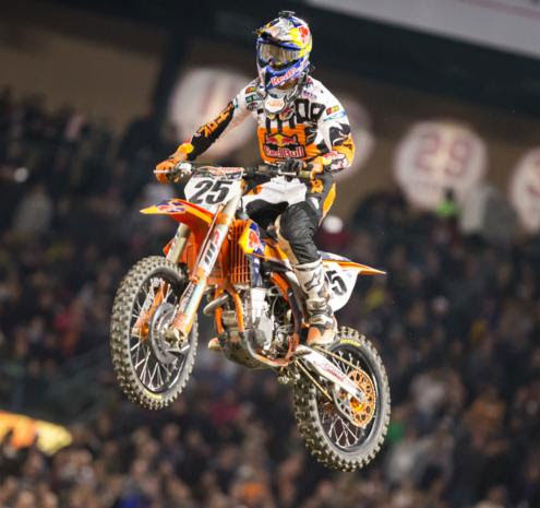 Musquin's third-place finish gave KTM two of three spots on the podium. Photo: Feld Entertainment, Inc.
