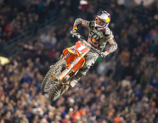 Dungey began his title defense with a runner-up effort. Photo: Feld Entertainment, Inc.