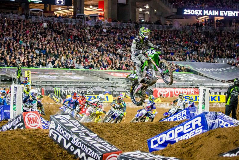 Forkner (24) parlayed his second straight holeshot into his first career podium result. Photo: Feld Entertainment, Inc.
