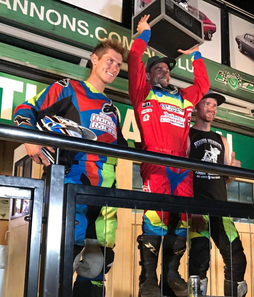 Troy Bayliss Cup 2017 Podium - Jared Mees (1st), Troy Herfoss (2nd), Mick Kirkness (3rd)